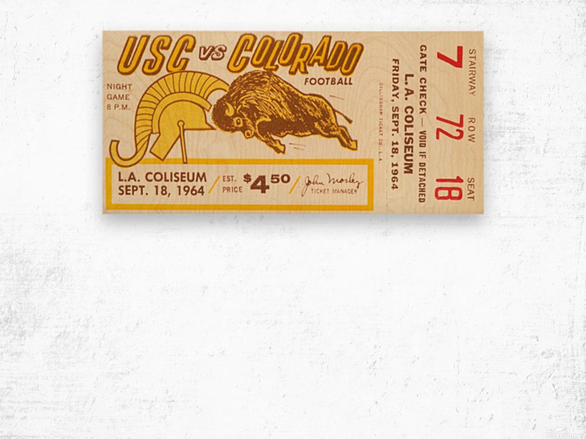1964 USC vs. Colorado Wood print