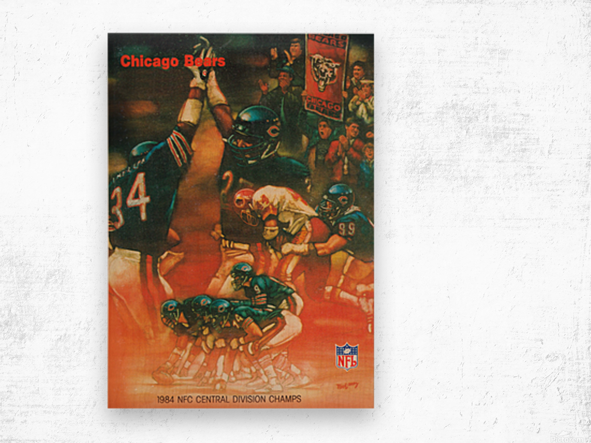 1984 chicago bears nfc central division champs art Wood print