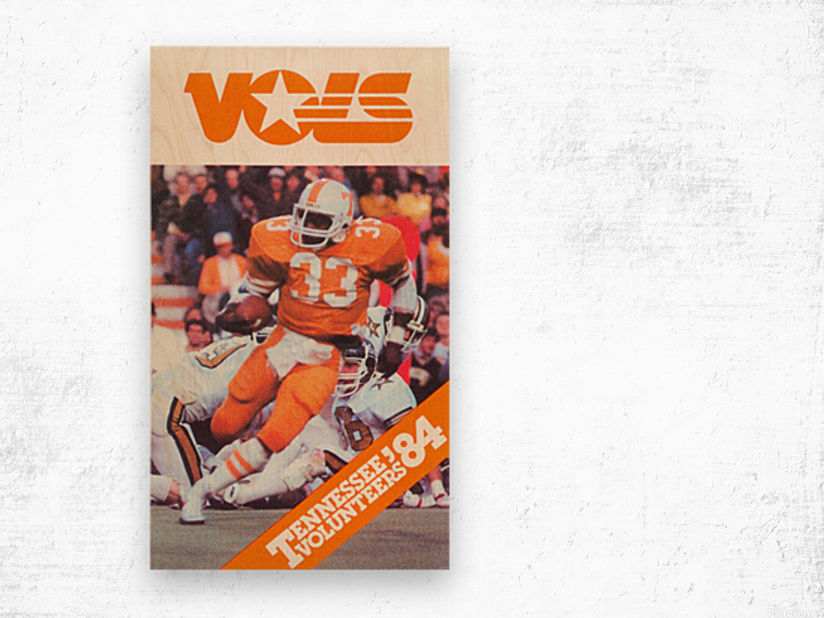 1984 tennessee vols college football poster Wood print