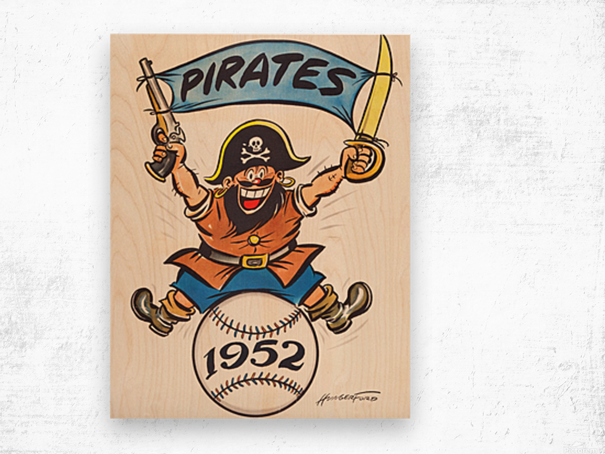 1952 pittsburgh pirates artist cy hungerford Wood print