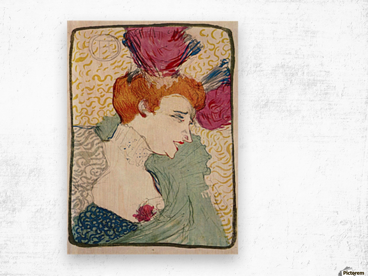 Marcellle Lender by Toulouse-Lautrec Wood print