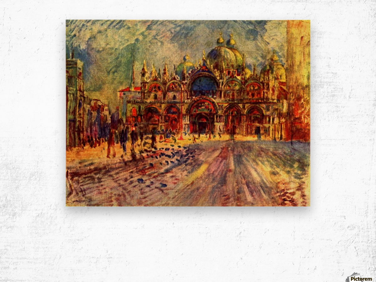 Marcus place in Venice Wood print