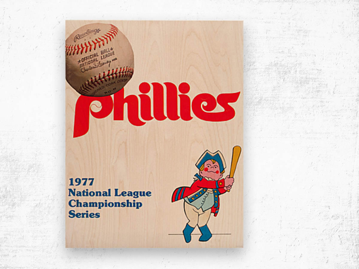 1977 philadelphia phillies national league championship series poster Wood print