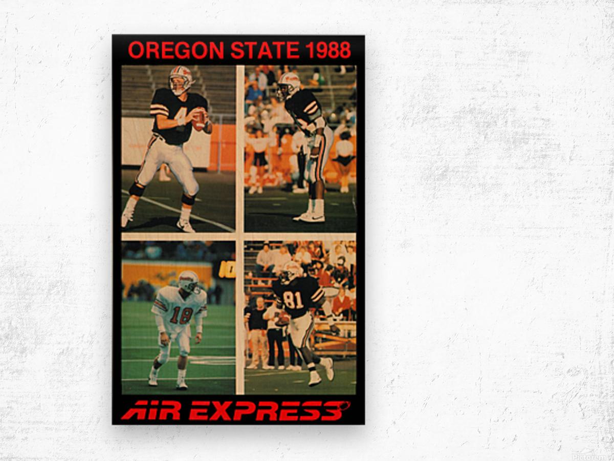 1988 oregon state osu beavers air express offense Wood print