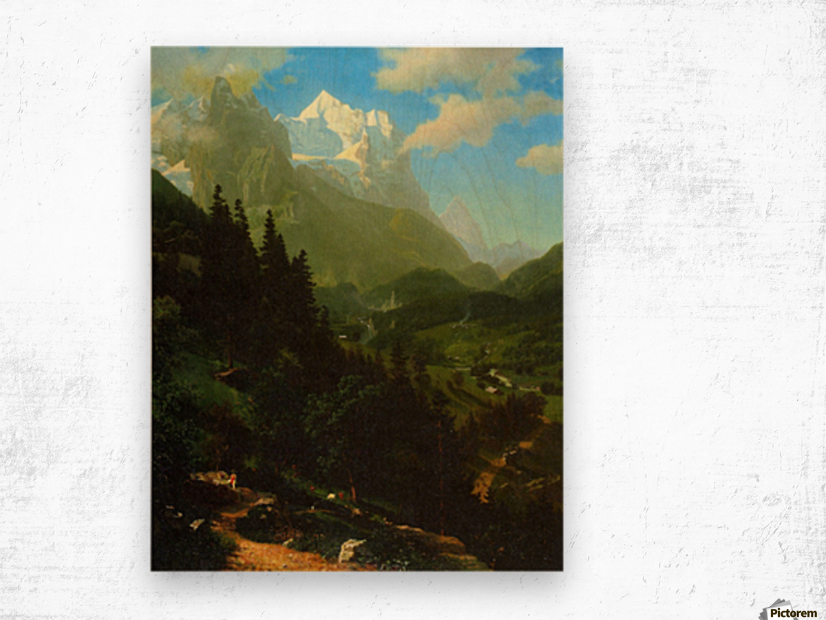 Matterhorn by Bierstadt Wood print