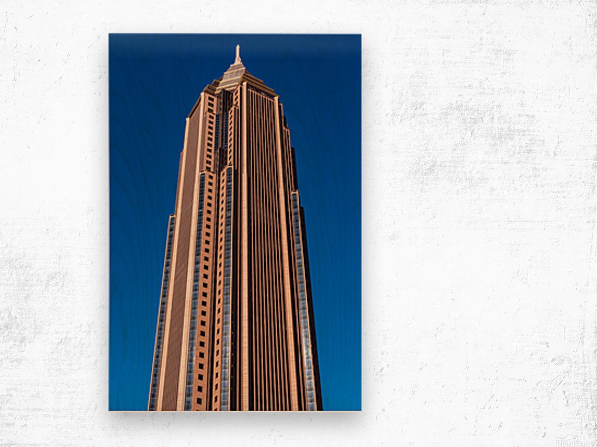 Bank of America Building   Atlanta GA 6630 Wood print