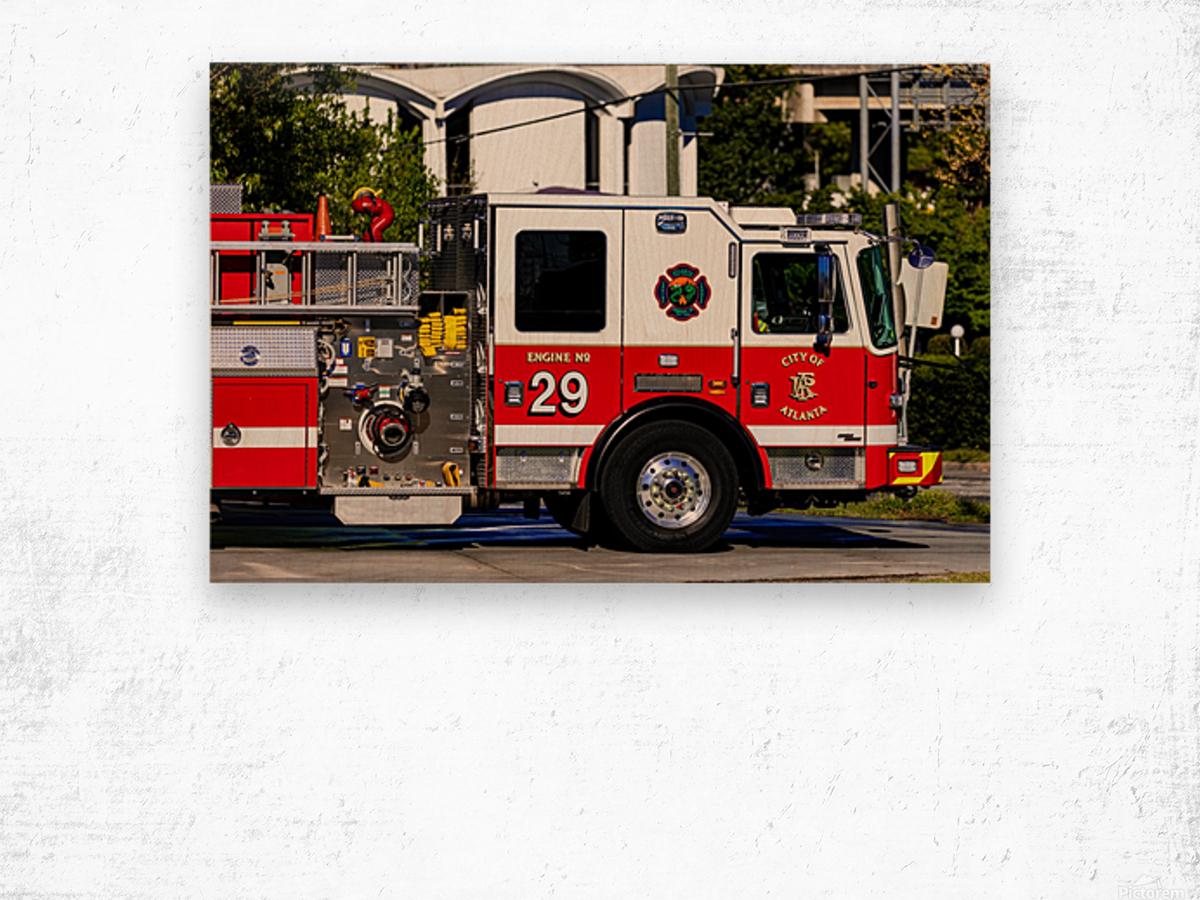 City of Atlanta Fire Engine No 29 6665 Wood print