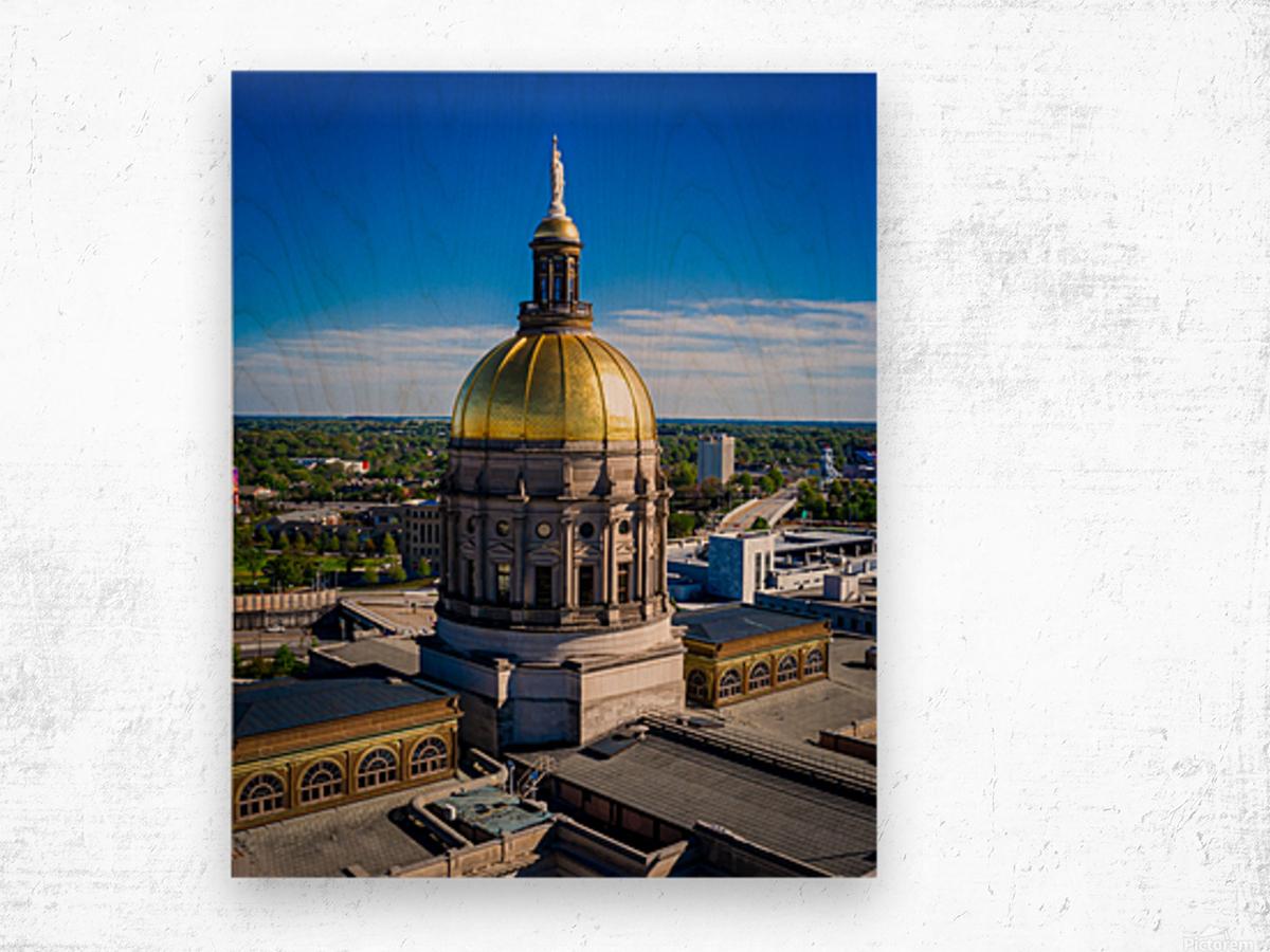 Georgia State Capitol Building   Atlanta GA 0636 Wood print