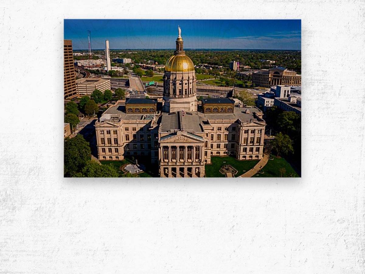 Georgia State Capitol Building   Atlanta GA 0639 Wood print