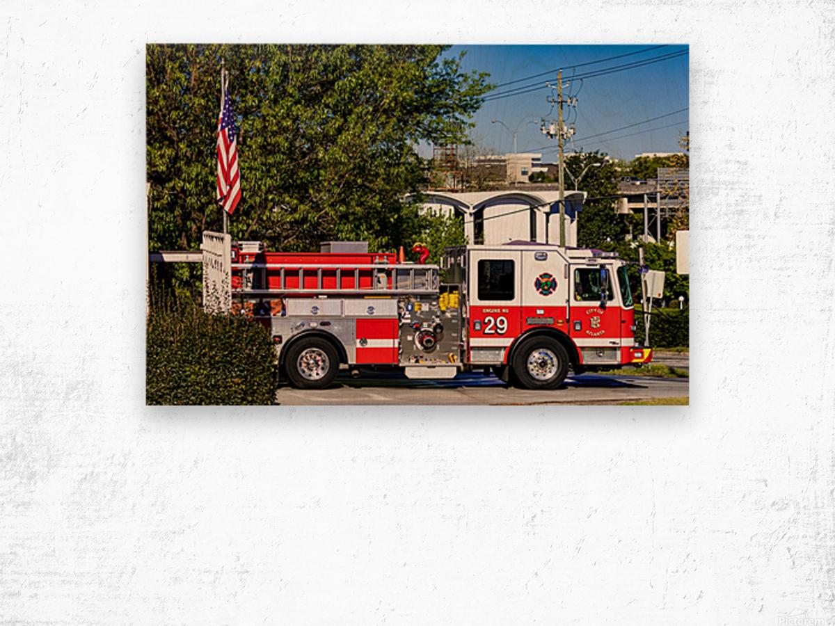 City of Atlanta Fire Engine No 29 6648 Wood print
