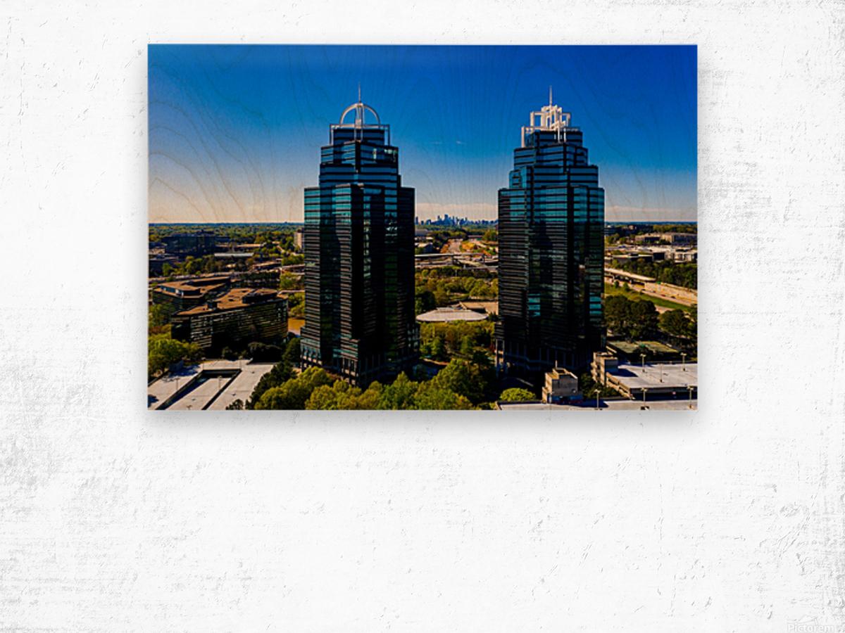 King and Queen Buildings   Atlanta GA 0556 Wood print