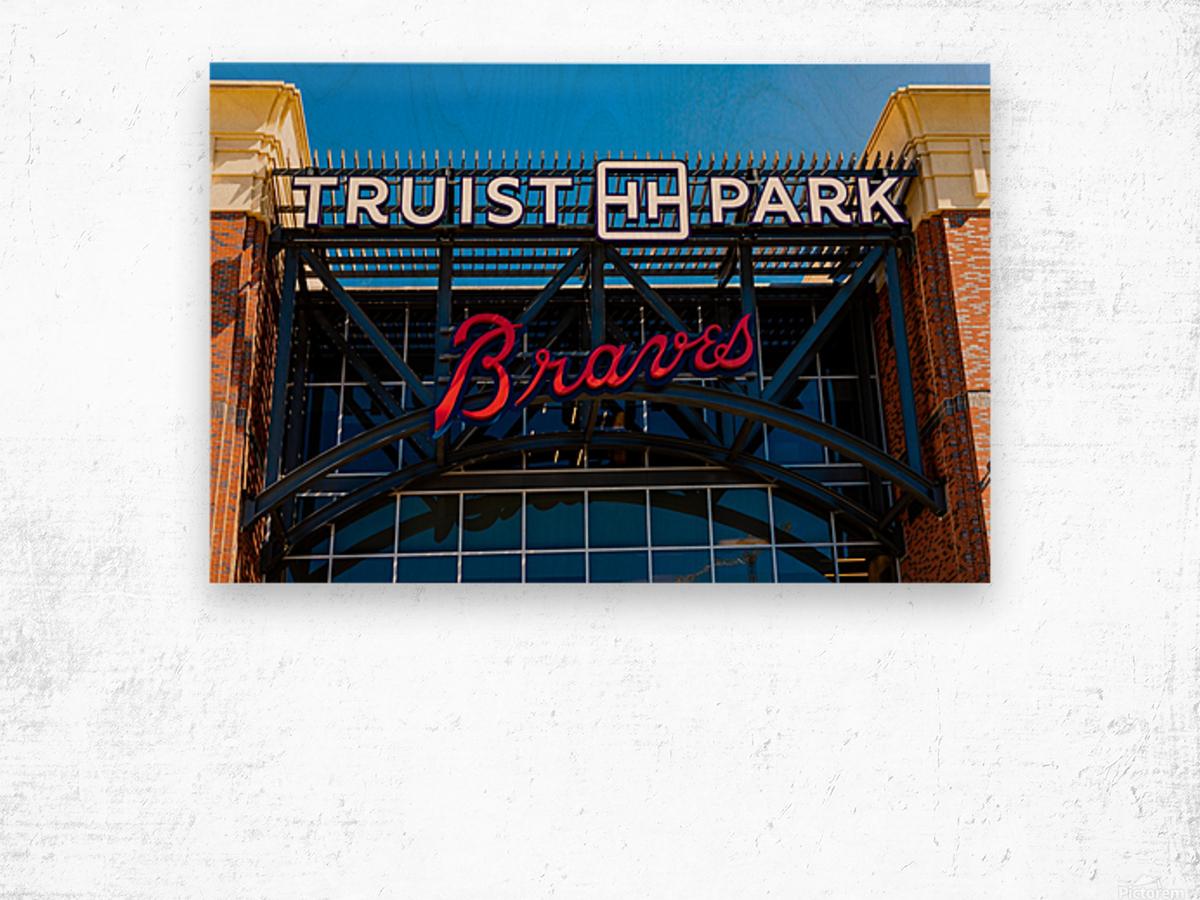 Truist Park   The Battery Atlanta GA 6748 Wood print