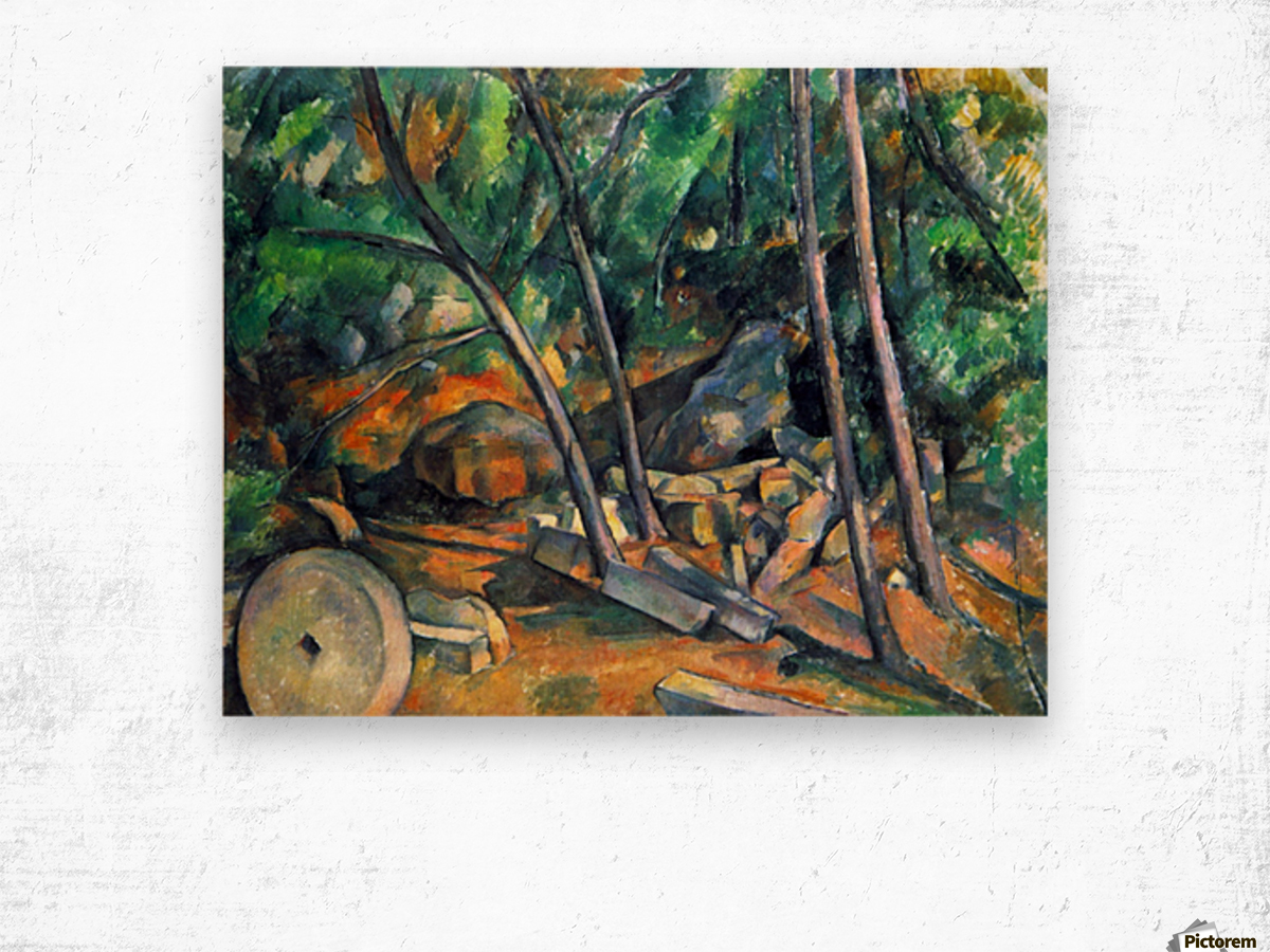 Mill Stone by Cezanne Wood print