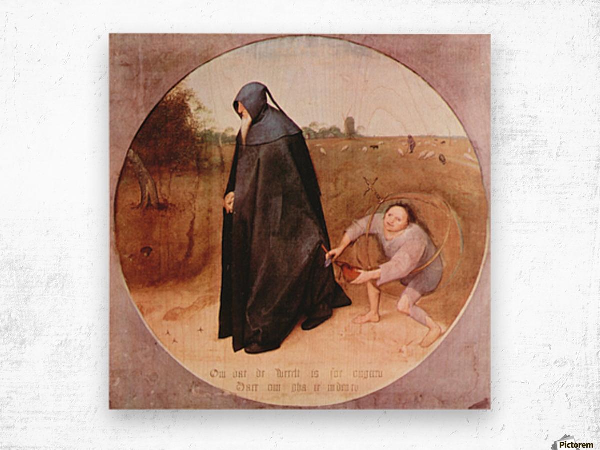 Misanthrope by Pieter Bruegel Wood print