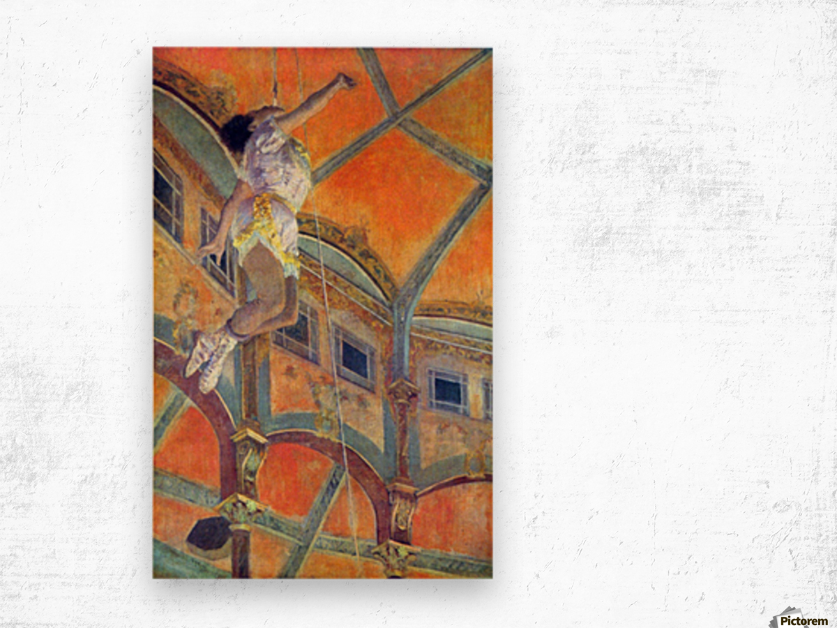 Miss Lala in Circus Fernando by Degas Wood print