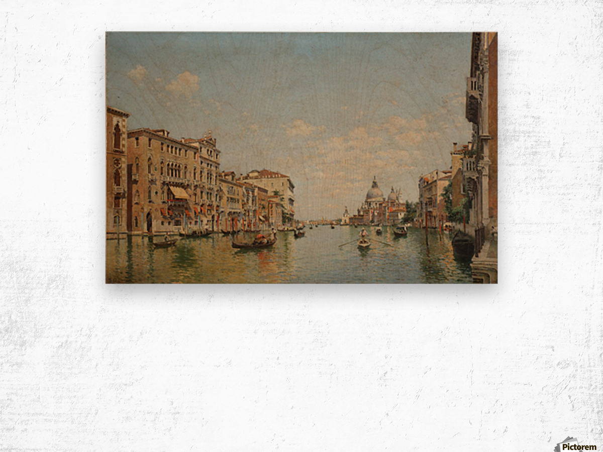 View of the Grand Canal of Venice Wood print