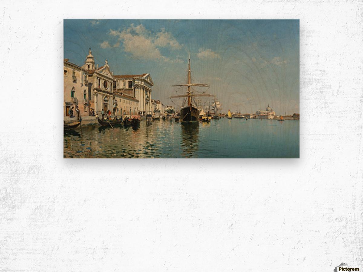 La Chiesa Gesuati from the Canale della Giudecca, Venice Wood print