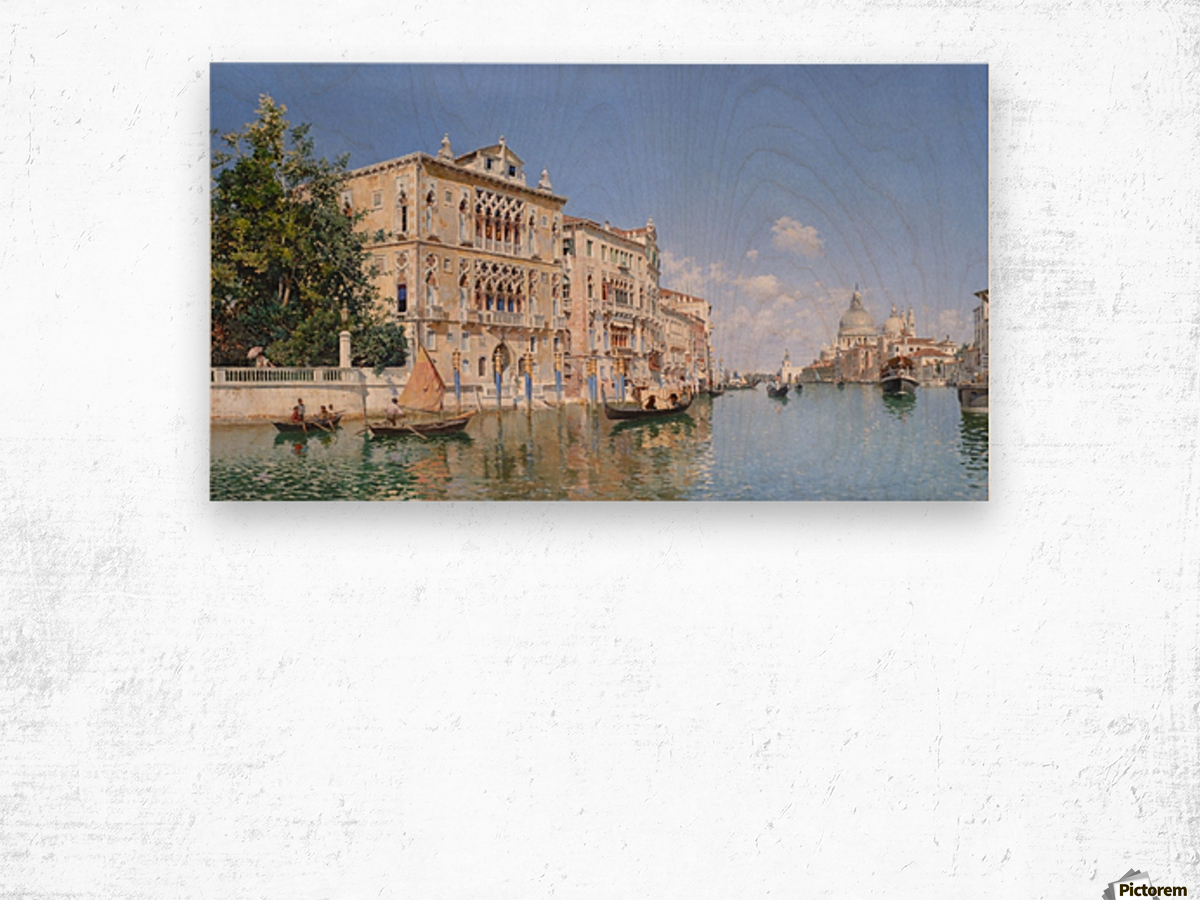 The Grand Canal Looking Towards Santa Maria Della Salute Wood print