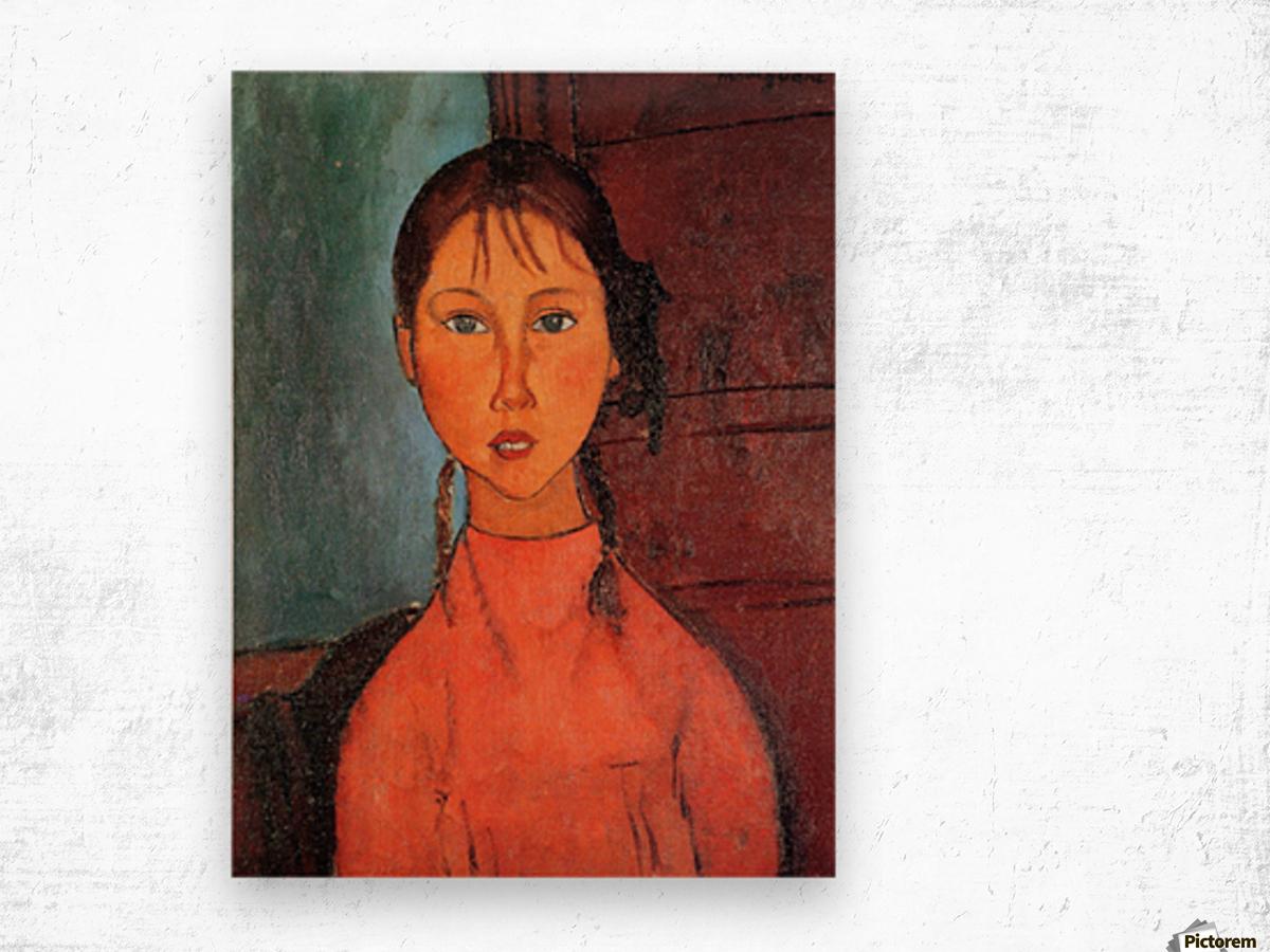 Modigliani - Girl with plaits Wood print