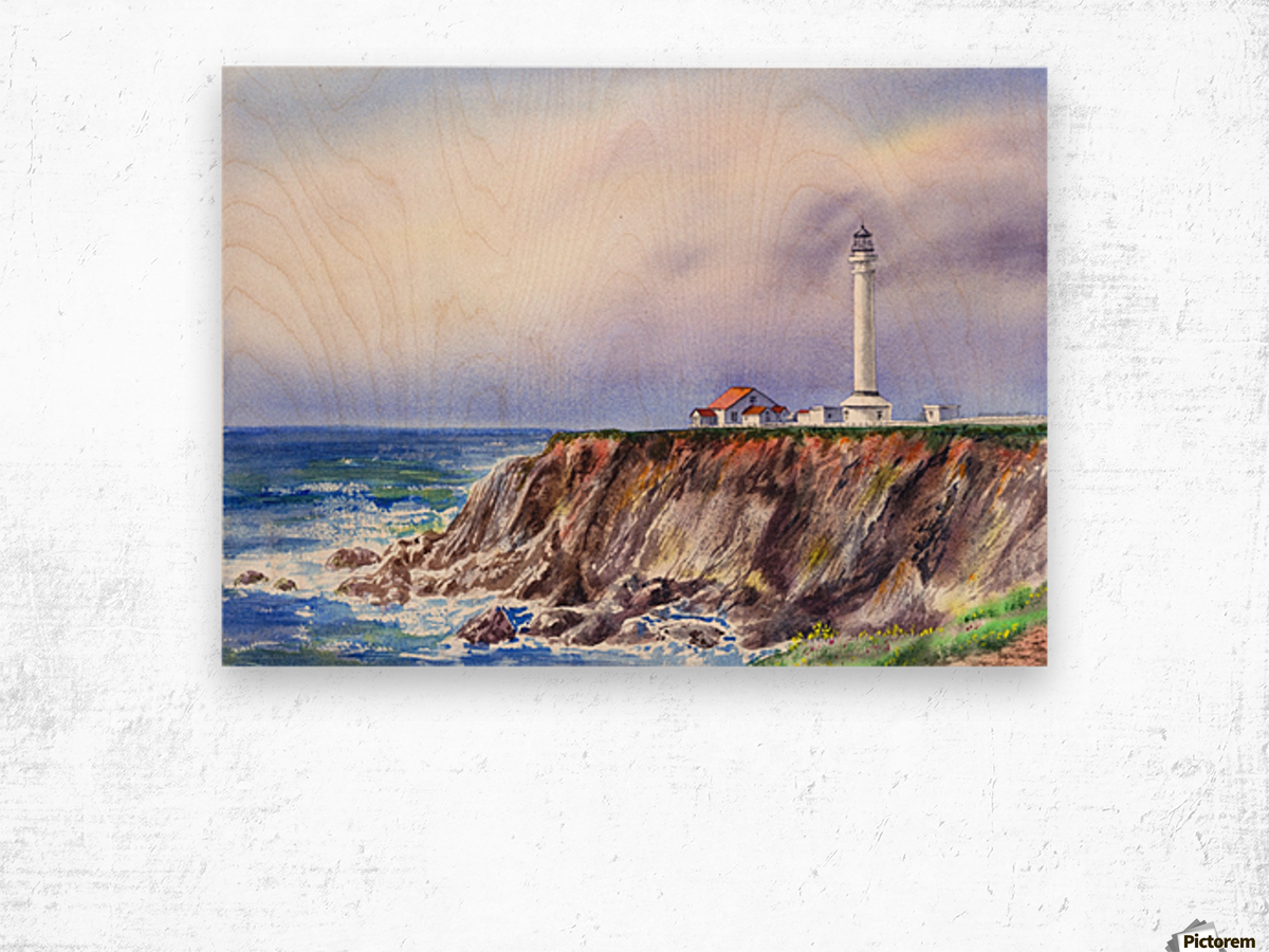 Lighthouse Point Arena California  Wood print