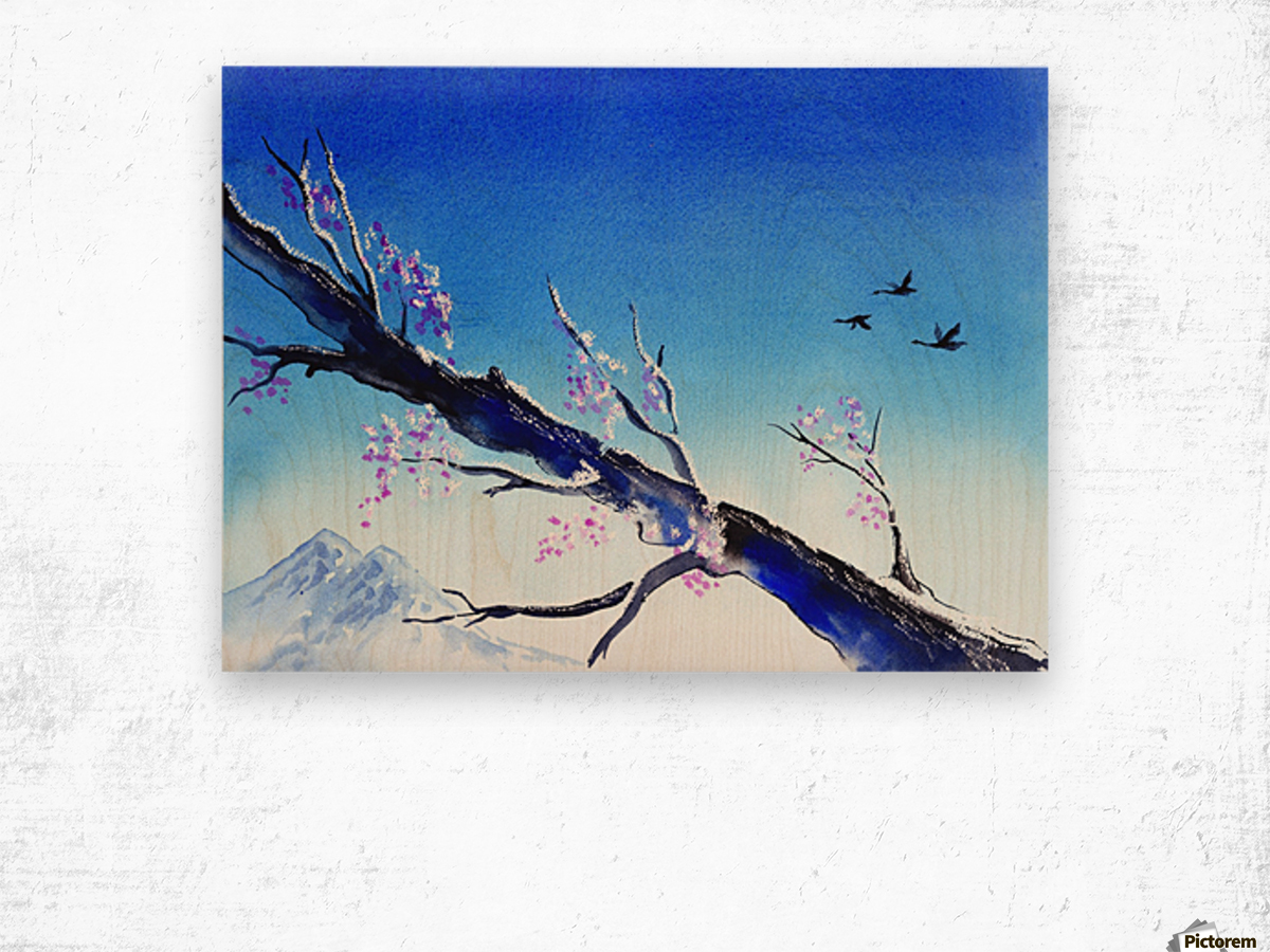 Spring In The Mountains Wood print
