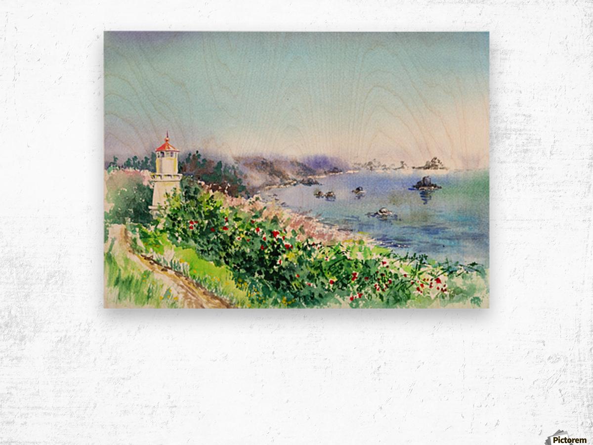 Lighthouse Trinidad California Wood print