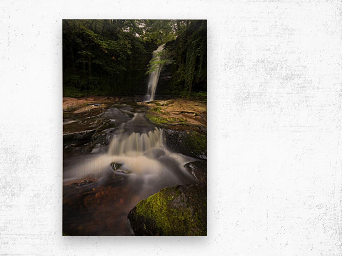 Blaen y Glyn waterfalls Wood print