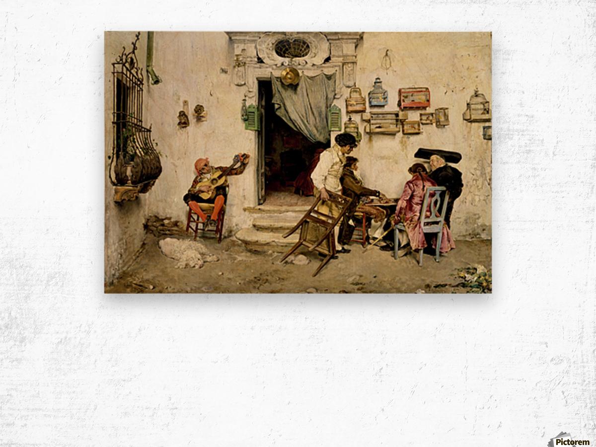 Figaro Shop Wood print