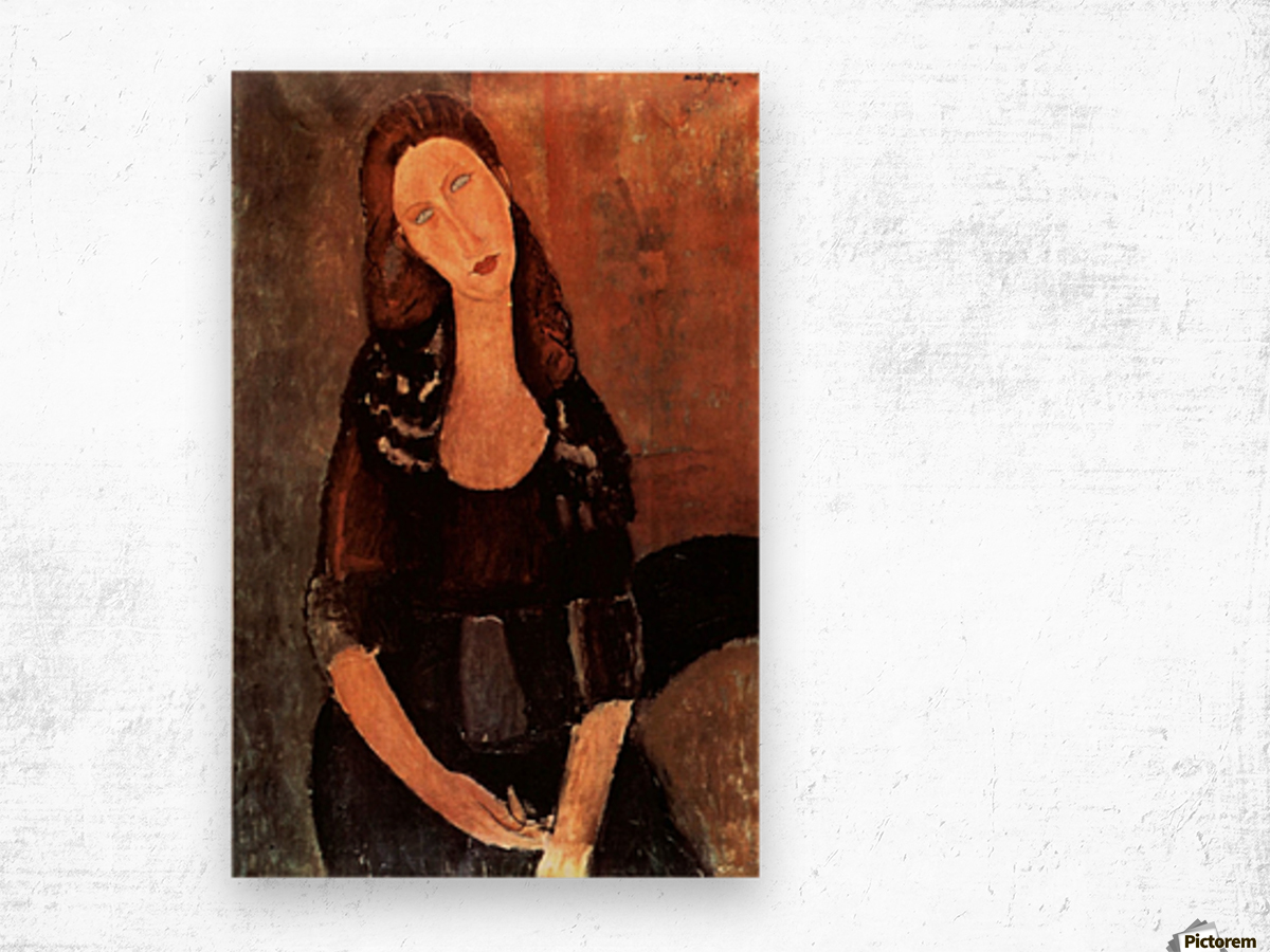 Modigliani - Portrait of Jeanne Hebuterne -3- Wood print