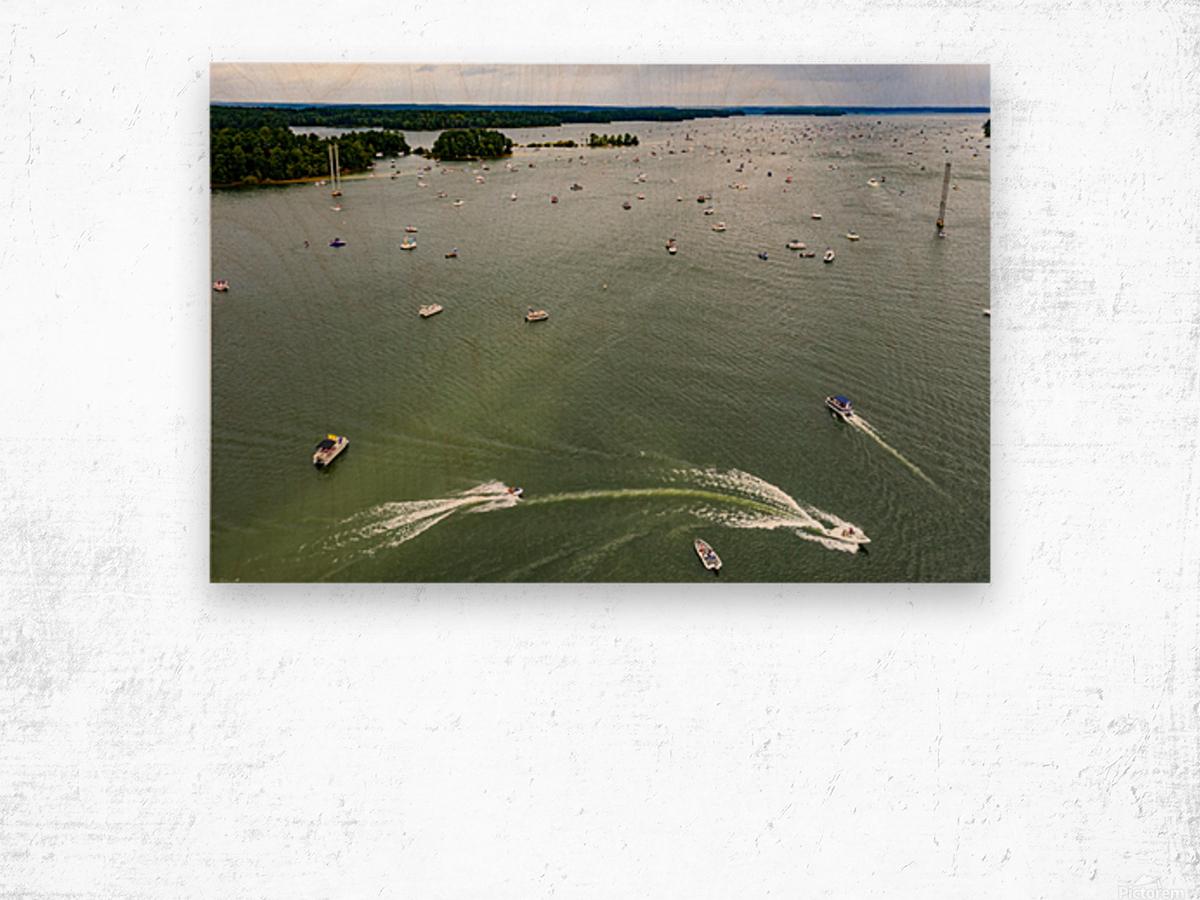 Trump Boat Parade Columbia County 8-29-20 3 Wood print