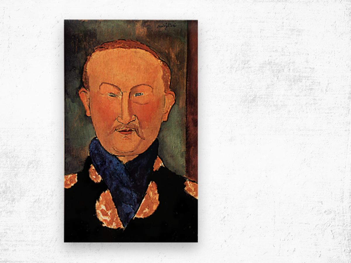 Modigliani - Portrait of Leon Bakst Wood print