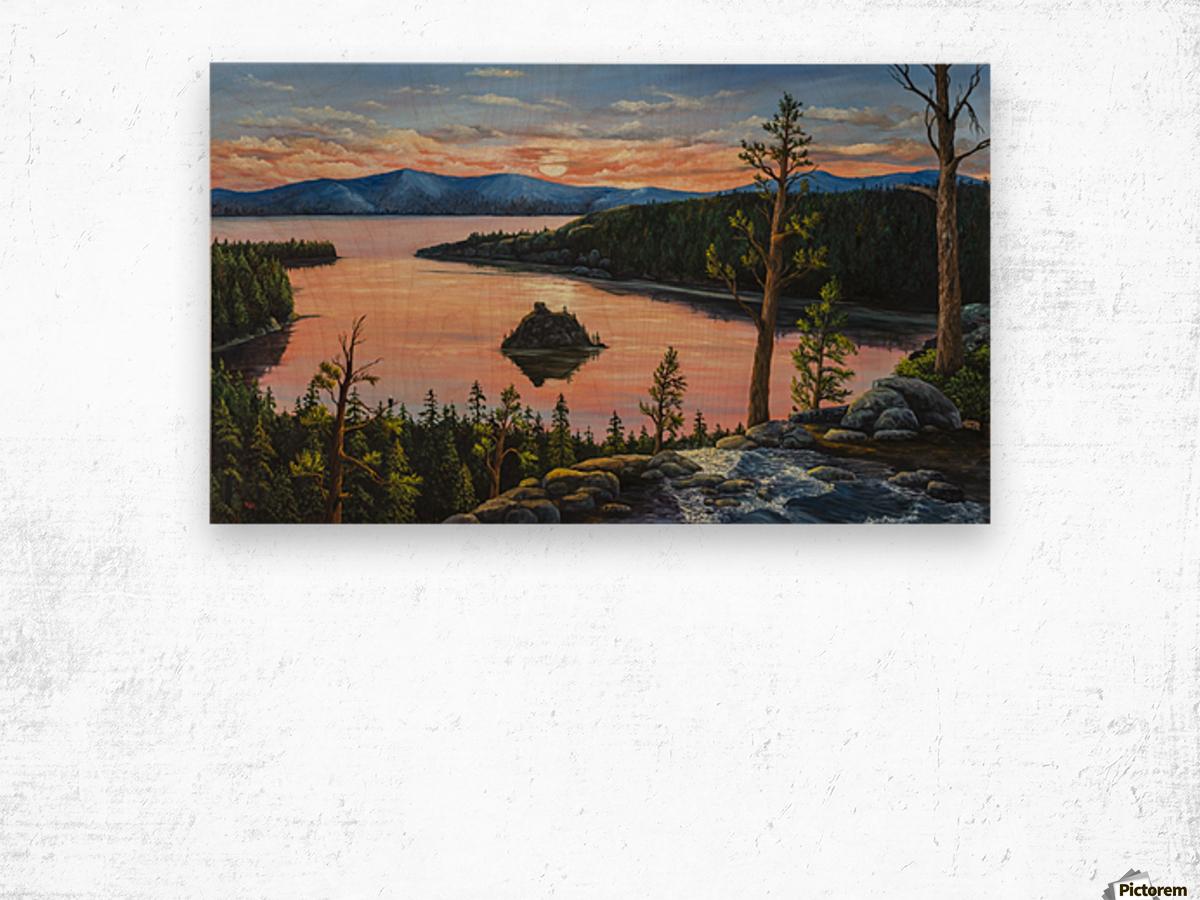 Emerald Bay Wood print