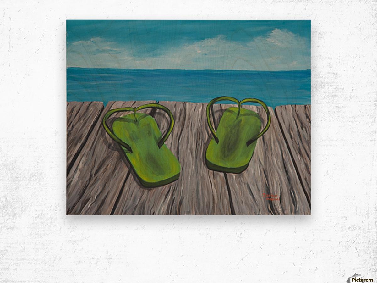 Sandals Wood print