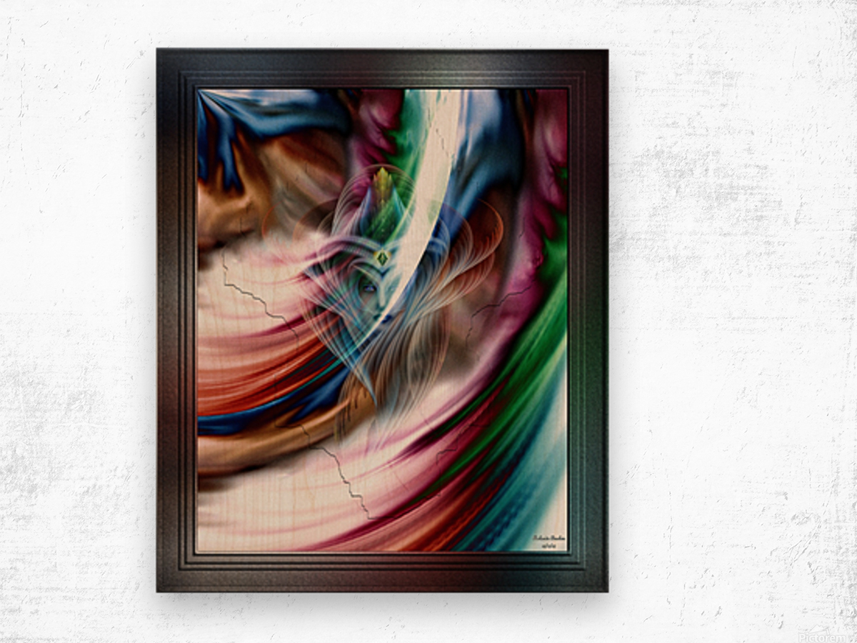 Whispers In A Dreams Of Beauty Fractal Abstract Portrait Art Wood print