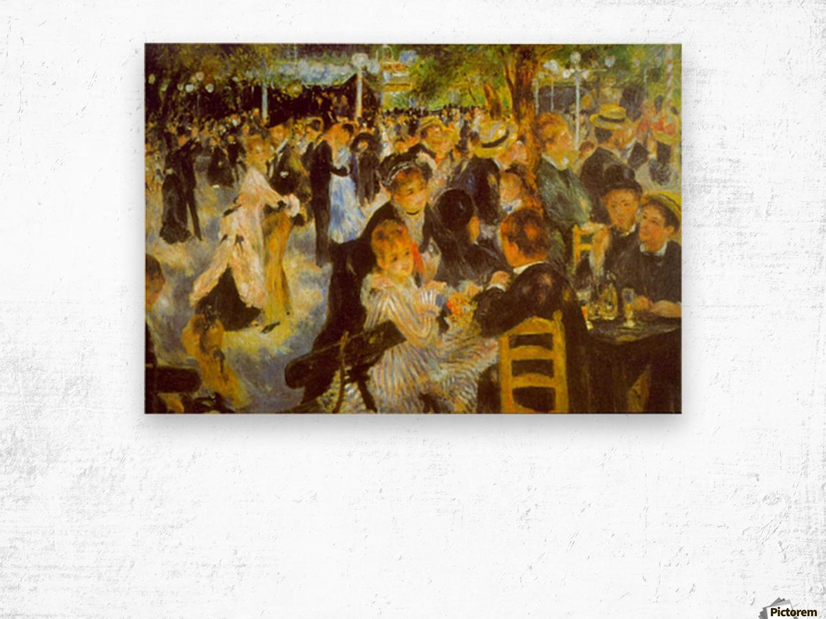 Moulin Galette by Renoir Wood print