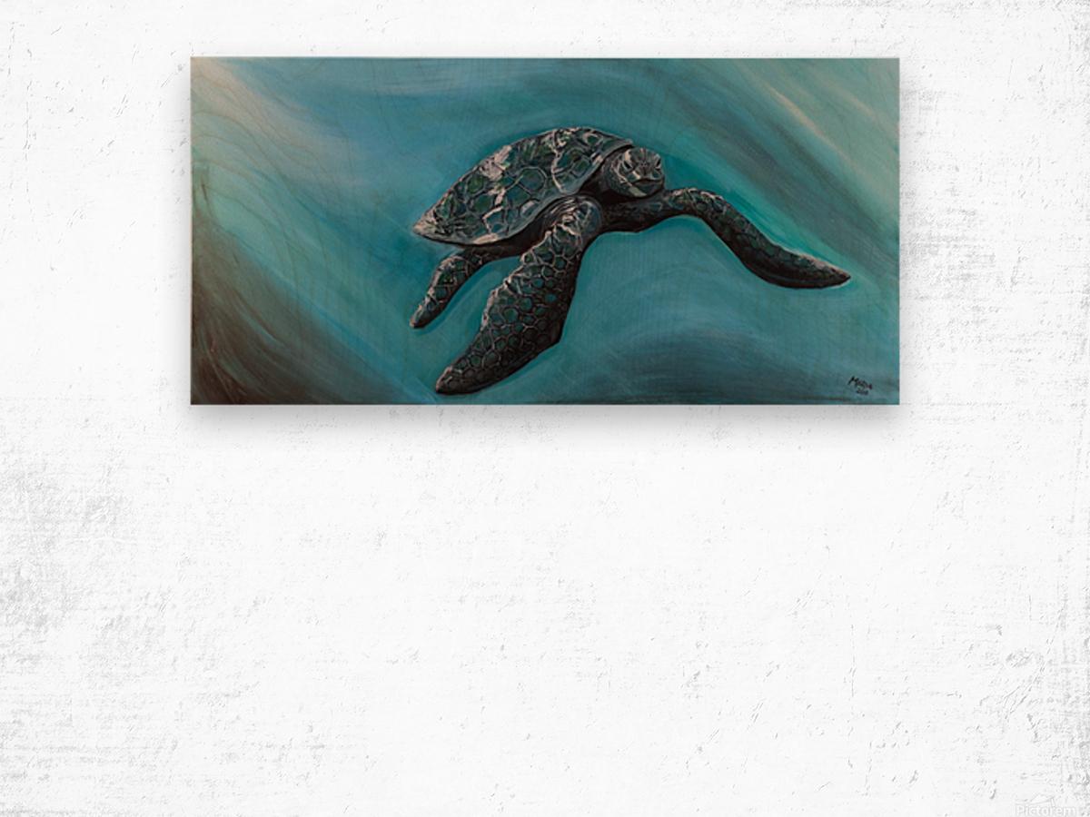 Collection WAVES-Turtle Impression sur bois