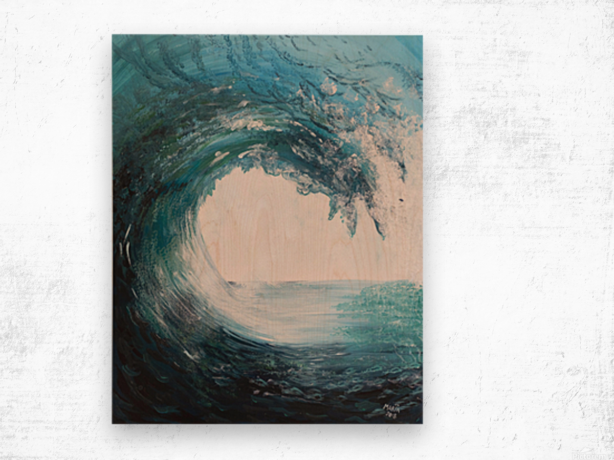 Collection WAVES-Swell Impression sur bois