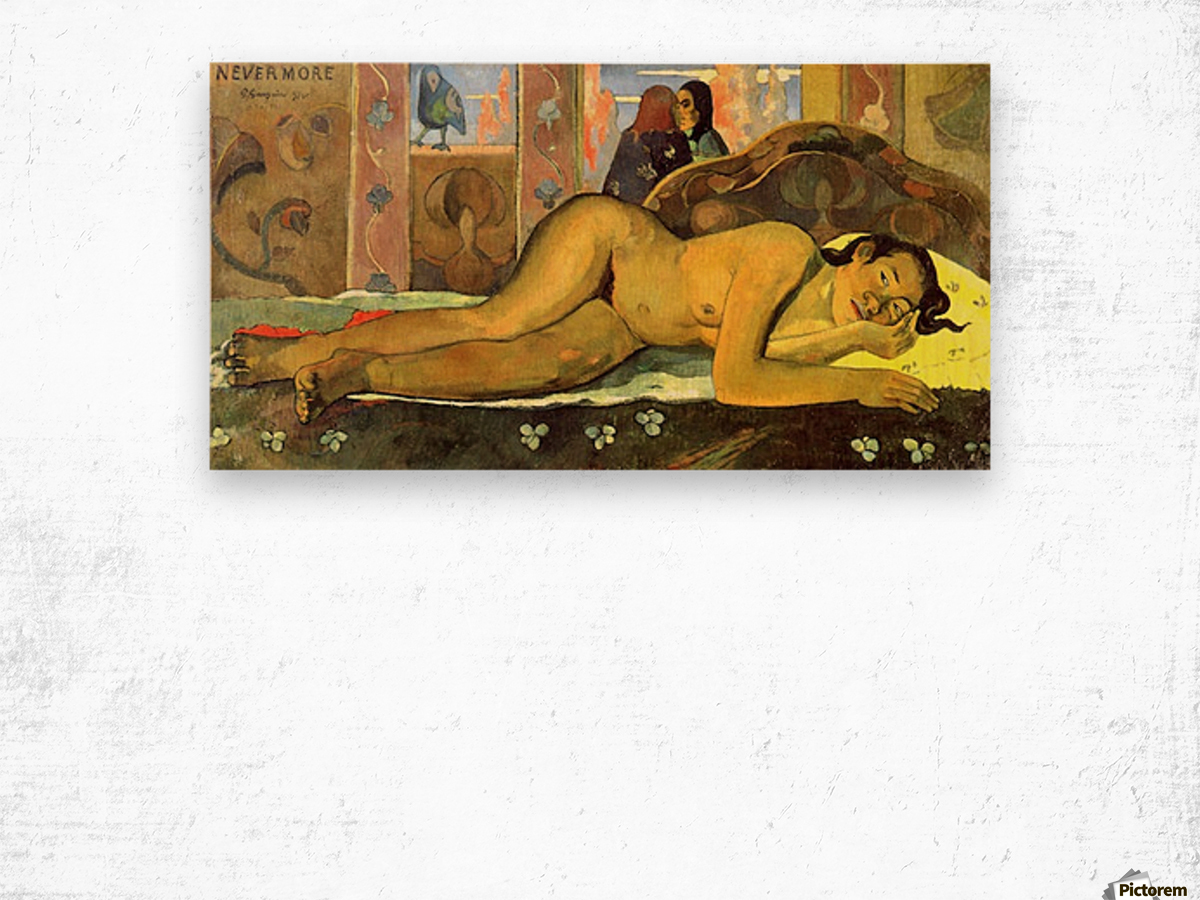 Nevermore by Gauguin Wood print
