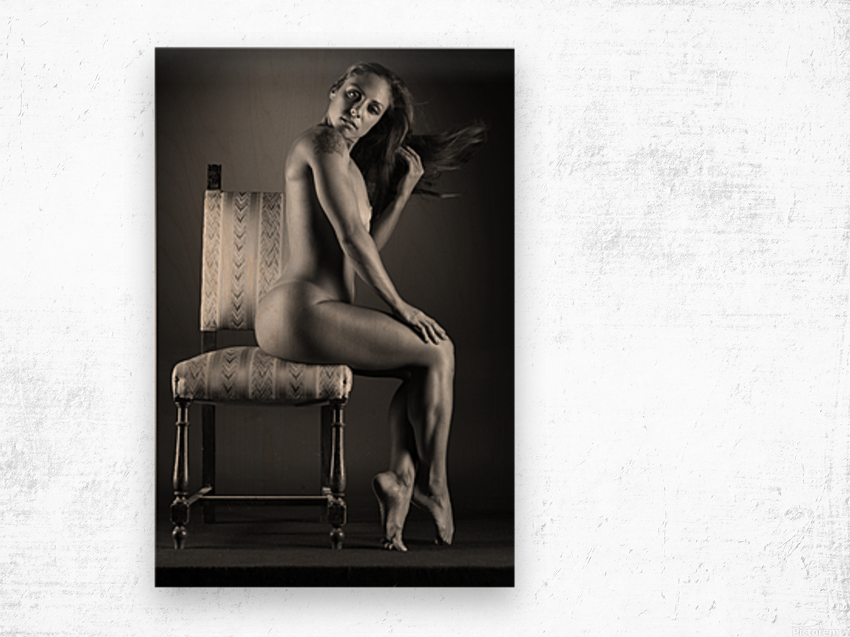 Naked_woman_young_nude_bodyscape Wood print