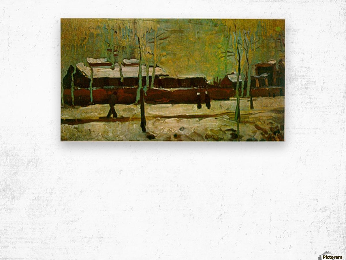 Old Station by Van Gogh Wood print
