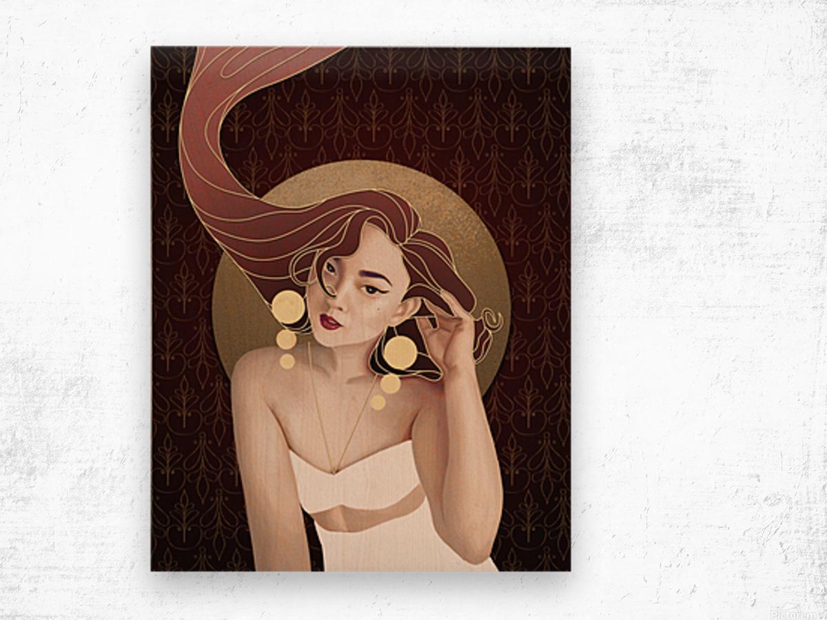 Vintage Hair Wood print