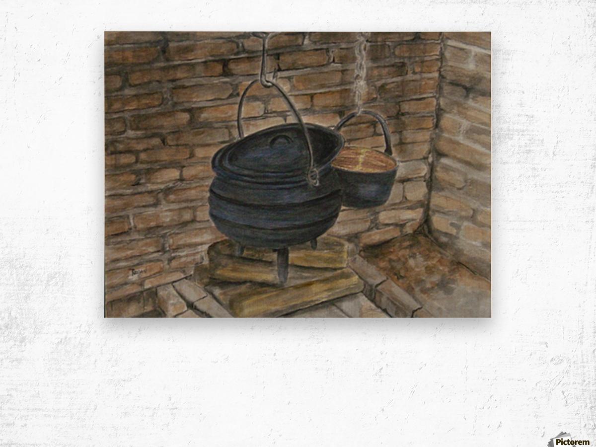 Pot Calling the Kettle Black Impression sur bois