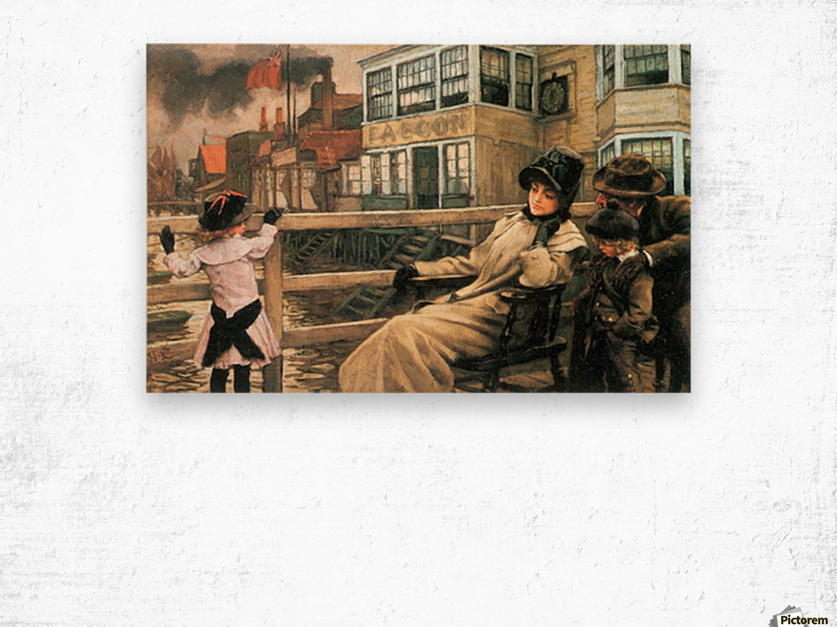 On the ferry waiting 2 by Tissot Wood print