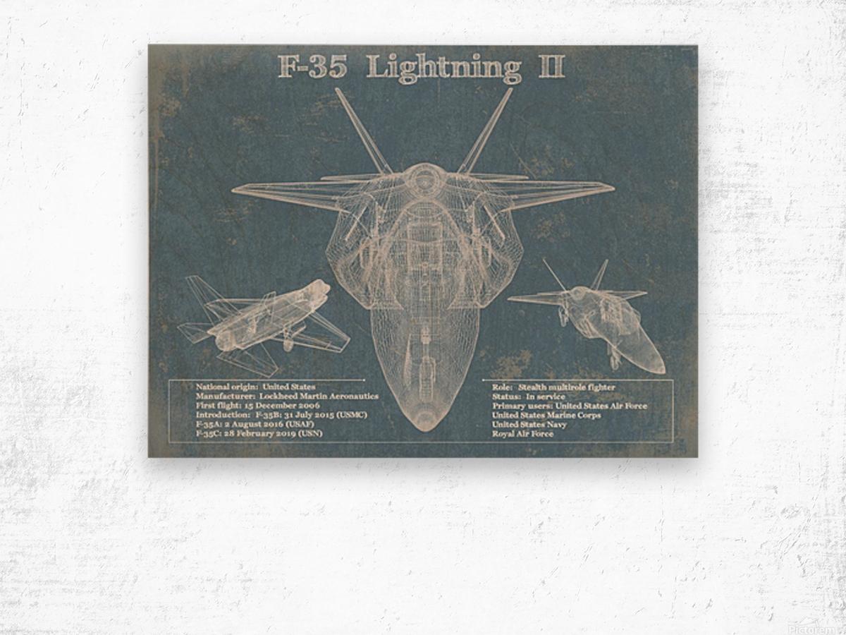 f 35 Wood print
