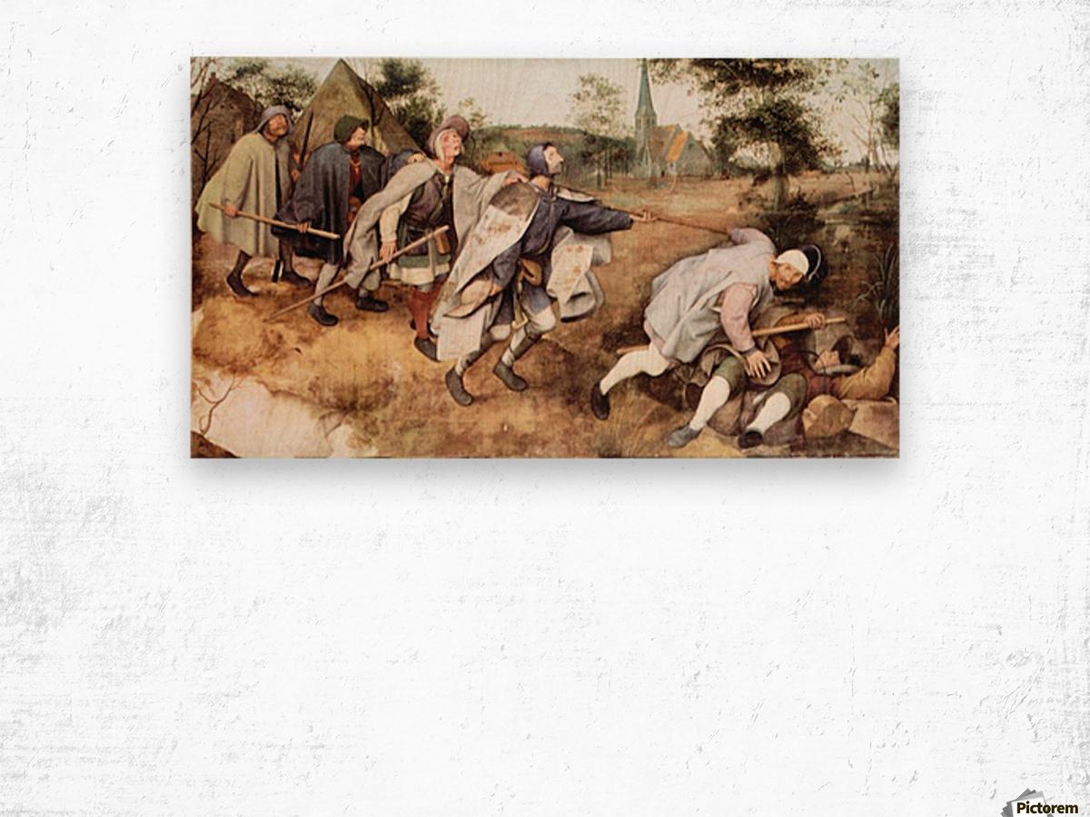 Parabal of the blind men by Pieter Bruegel Wood print
