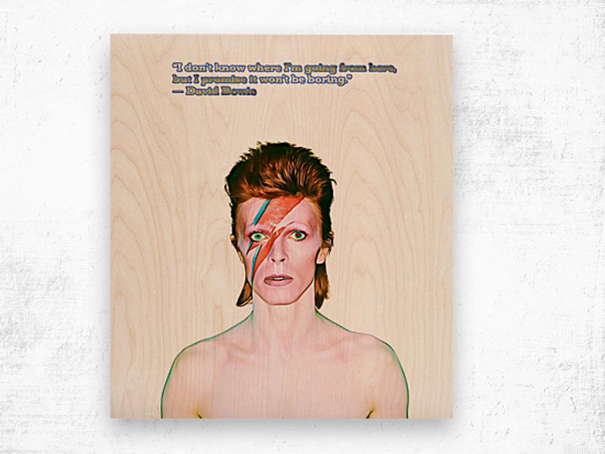 David Bowie Ziggy Stardust Wood print