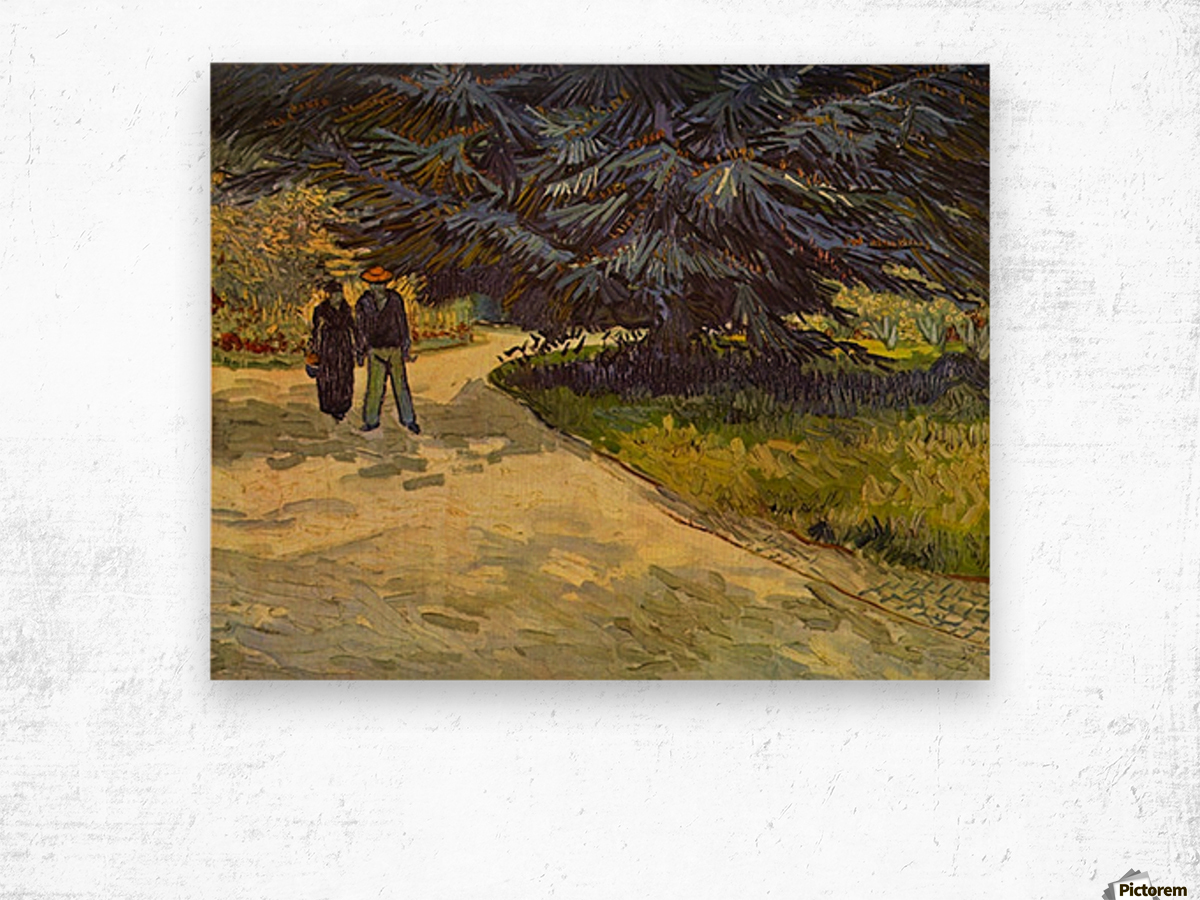Park Arles by Van Gogh Wood print