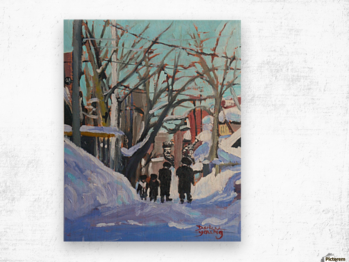 Montreal Winter Outremont Wood print