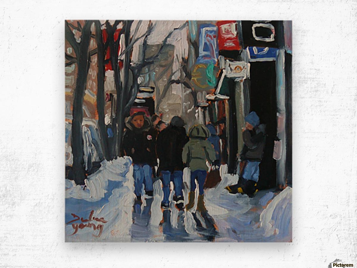 Montrel winter Scene, Ste-Catherine Wood print