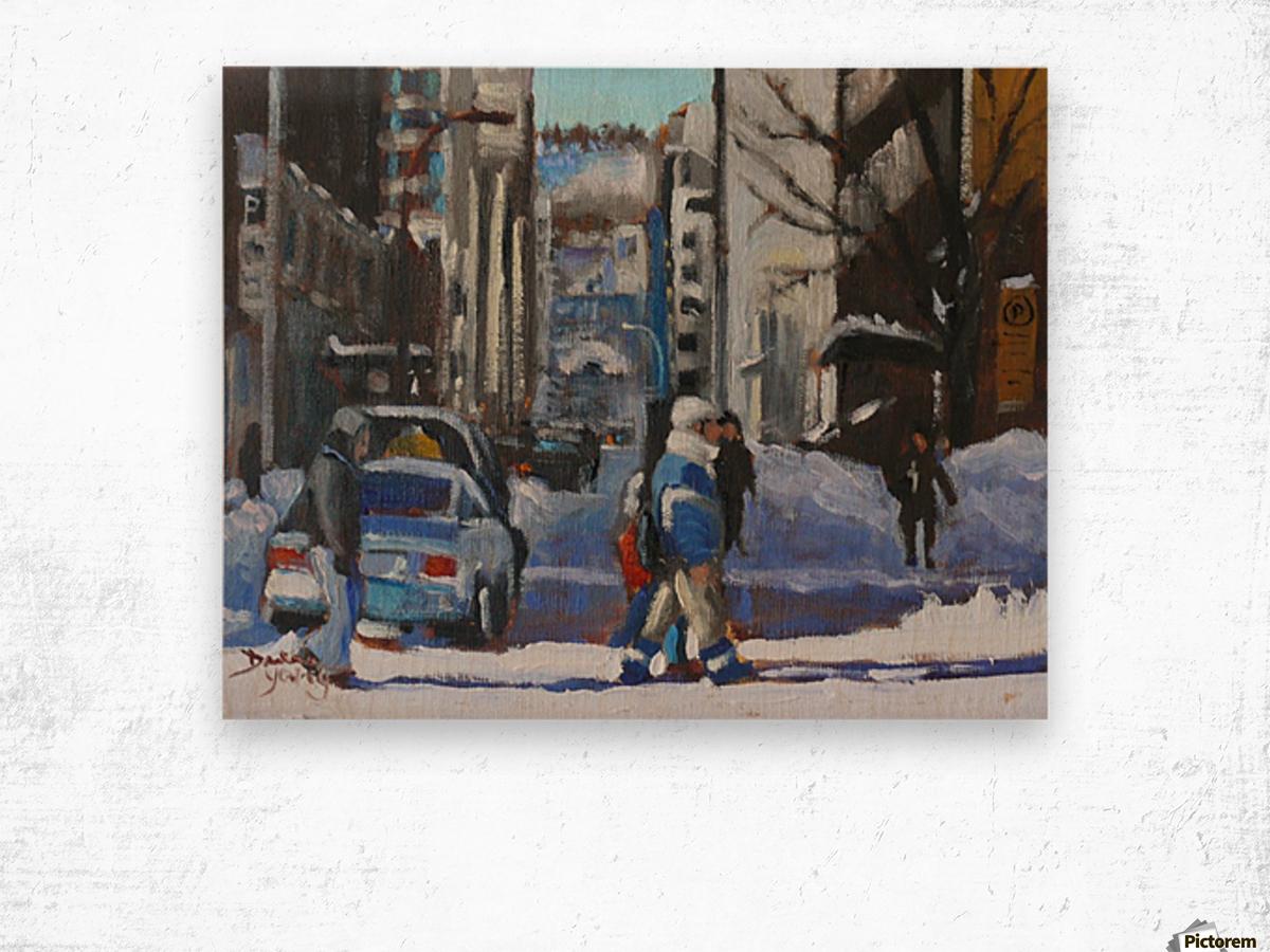 Montreal Winter Scene, Drummond Wood print